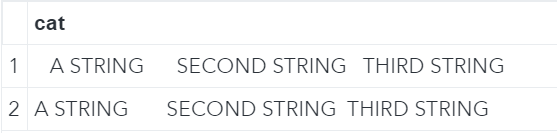 Concatenate strings with the CAT function