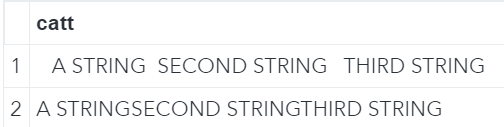 Concatenate strings with the CATT function