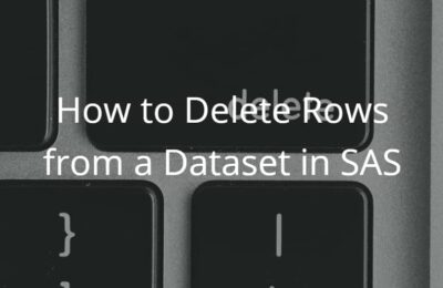 How to Delete Rows from a Dataset in SAS