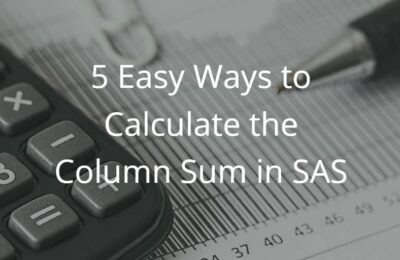 5 Easy Ways to Calculate the Column Sum in SAS