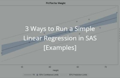 3 Ways to Run a Simple Linear Regression in SAS [Examples]